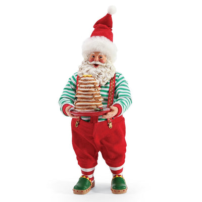 Possible Dreams Clothtique Full Stack of Pancakes Santa Figurine