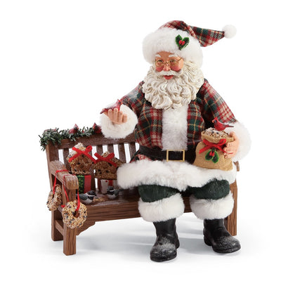 Possible Dreams Clothtique Winter Tweets Santa Figurine
