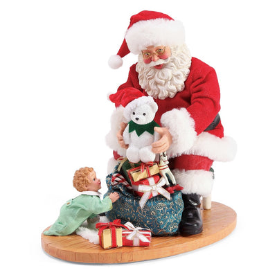 Possible Dreams Clothtique Christmas Surprise Santa Figurine