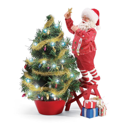 Possible Dreams Clothtique Climbing To The Top Santa Figurine