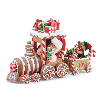 Possible Dreams Clothtique Gingerbread Train Santa Figurine