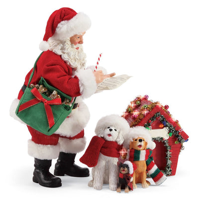 Possible Dreams Clothtique Carolers Santa Figurine