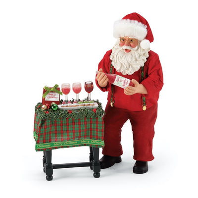 Possible Dreams Clothtique Wine Pairing Santa Figurine