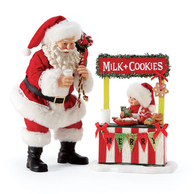 Possible Dreams Clothtique Merry Bake Sale Santa Figurine