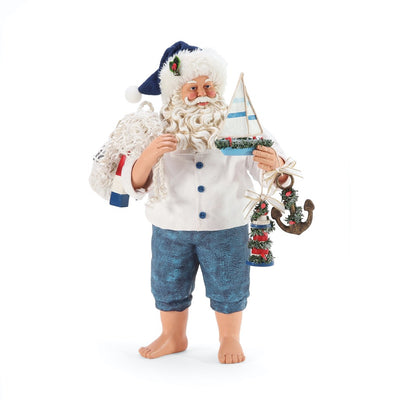 Possible Dreams Clothtique Nauti And Nice Santa Figurine