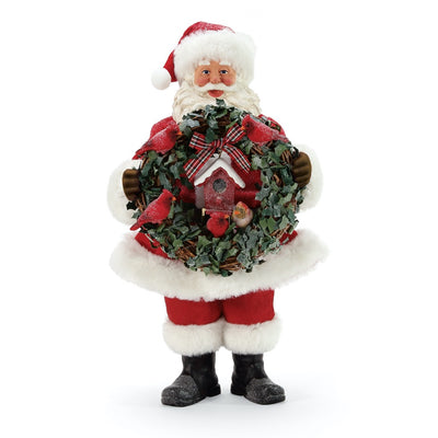 Possible Dreams Clothtique For The Birds Santa Figurine