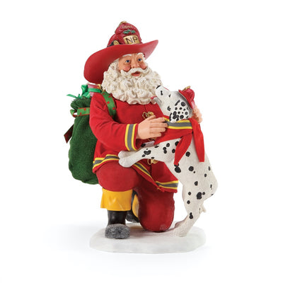 Possible Dreams Clothtique North Pole Company Santa Figurine