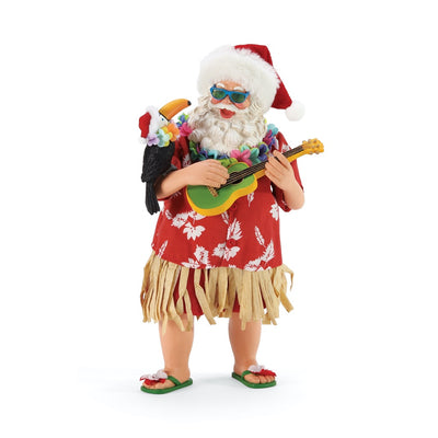 Possible Dreams Clothtique Tu-can Ukelele Santa Figurine