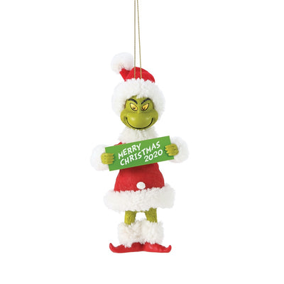Possible Dreams Clothtique Merry Christmas 2020 Grinch Ornament