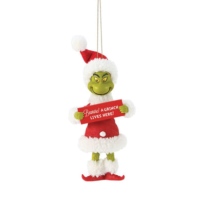 Possible Dreams Clothtique Beware! Grinch Ornament
