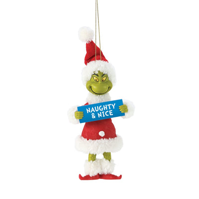Possible Dreams Clothtique Naughty & Nice Grinch Ornament