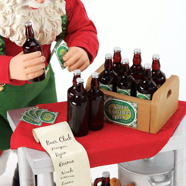 Possible Dreams Clothtique Home Brew Santa Figurine