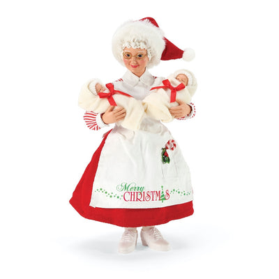 Possible Dreams Clothtique Comfort & Cuddles Mrs. Claus Figurine