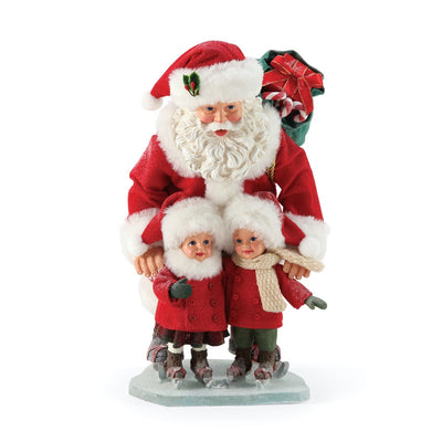 Possible Dreams Clothtique New Skates Santa Figurine