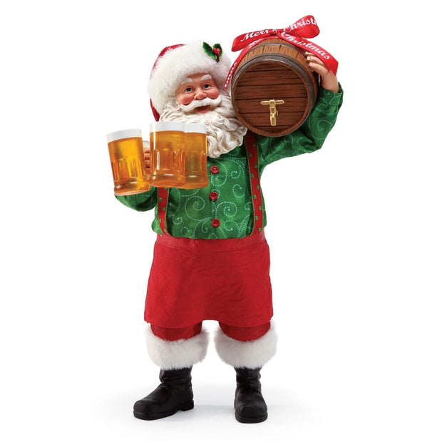Possible Dreams Clothtique Christmas Brew Santa Figurine