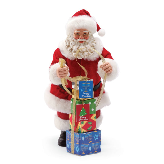 Possible Dreams Clothtique Merry Chrismukkah Santa Figurine