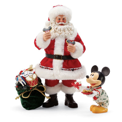 Possible Dreams Clothtique Milk & Cookies Santa Figurine