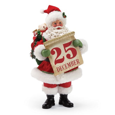 Possible Dreams Clothtique Save The Date Santa Figurine