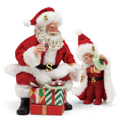 Possible Dreams Clothtique Super Heroes Santa Figurine