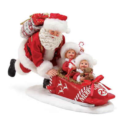 Possible Dreams Clothtique Team Santa Figurine
