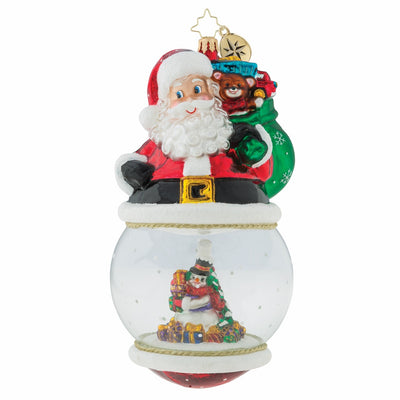 Christopher Radko Look Who's On Top Christmas Ornament