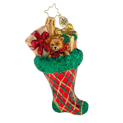 Christopher Radko Argyle Smile Christmas Ornament