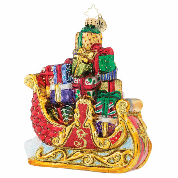 Christopher Radko Traveling First Class Christmas Ornament