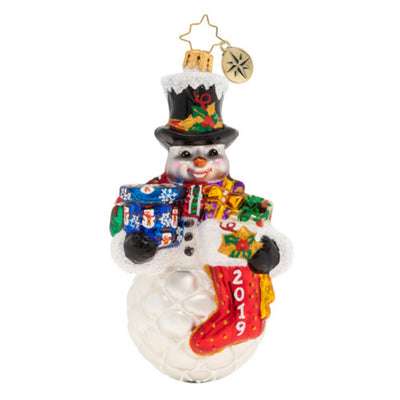Christopher Radko A Frosty 2019 Armful Christmas Ornament