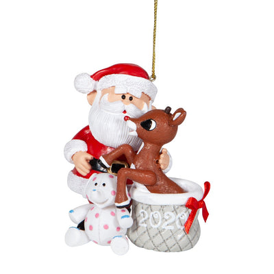 Rudolph The Red-Nosed Reindeer & Santa 2020 Dated Ornament