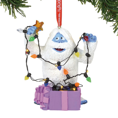 Rudolph The Red-Nosed Reindeer Bumble in Lights Lit Ornament