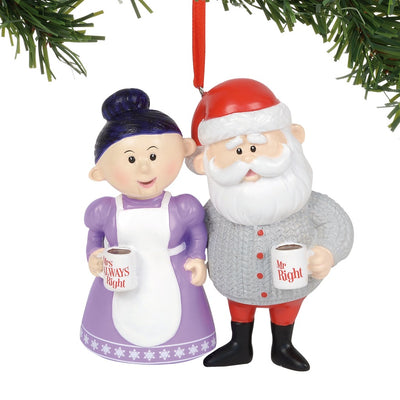 Rudolph The Red-Nosed Reindeer - Mr. Right & Mrs. Always Right Ornament