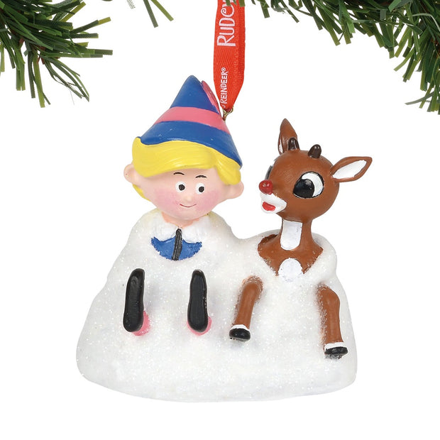 Rudolph The Red-Nosed Reindeer & Hermey Elf Musical Ornament