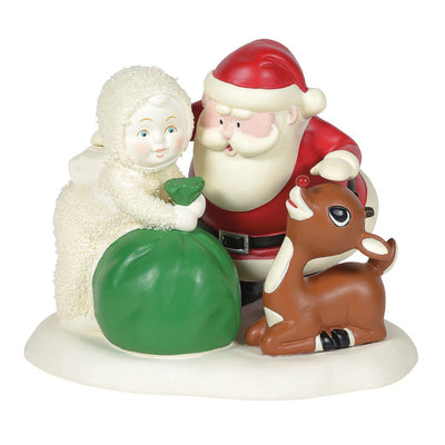 Snowbabies Treats For Rudolph Figurine