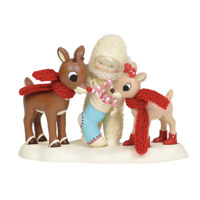 Snowbabies Sweets For Rudolph & Clarice Figurine