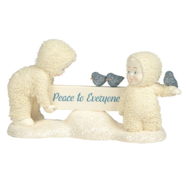 Snowbabies Peace To Everyone Figurine