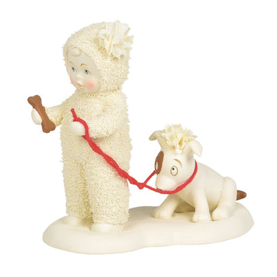 Snowbabies Give A Dog A Bone Figurine