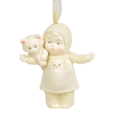 Snowbabies Cat Lady Ornament