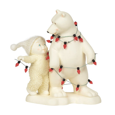 Snowbabies Tangled In Trimmings Figurine
