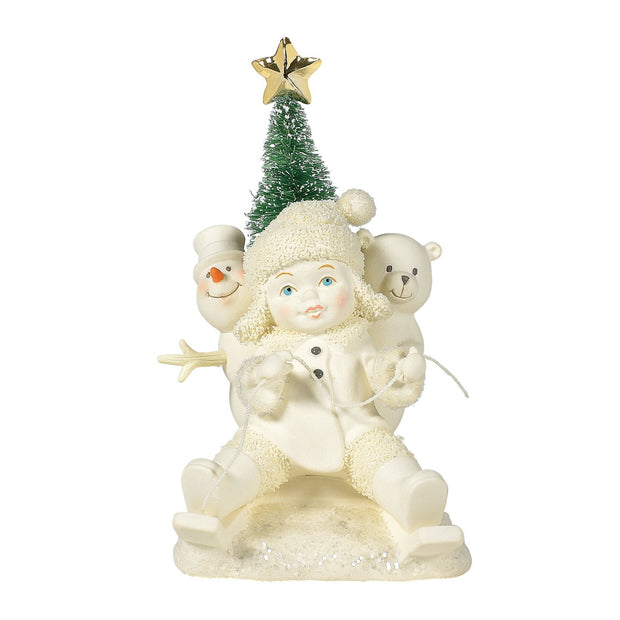 Snowbabies Gold Star Delivery Figurine