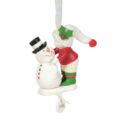 Snowbabies Frosty Kisses 2020 Dated Ornament