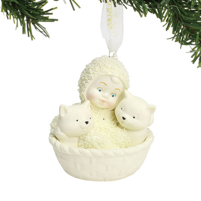Snowbabies Basket Of Kittens Ornament