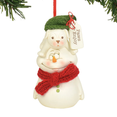 Snowpinions Paws & Enjoy Ornament