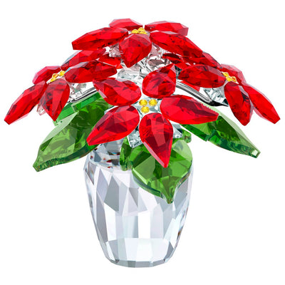 Swarovski Crystal Poinsettia, Large Figurine