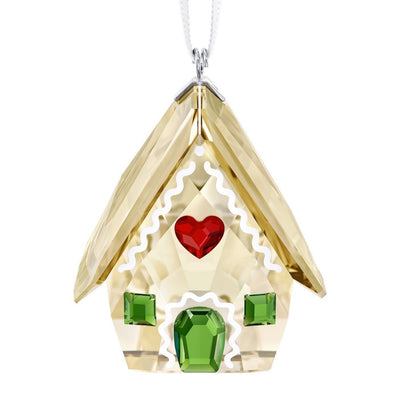 Swarovski Crystal Gingerbread House Christmas Ornament