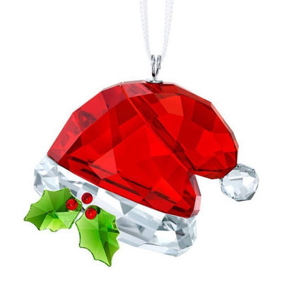 Swarovski Crystal Santa's Hat Christmas Ornament