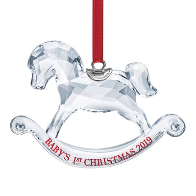 Swarovski Crystal 2019 Baby's 1st Christmas Ornament