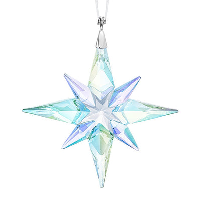 Swarovski Crystal Star Ornament, Aurora Borealis, Small