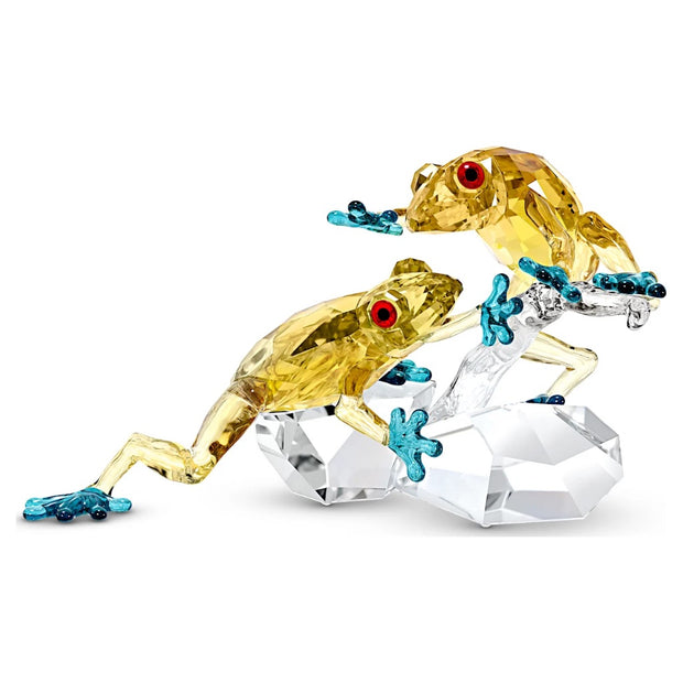 Swarovski Crystal Frogs Figurine