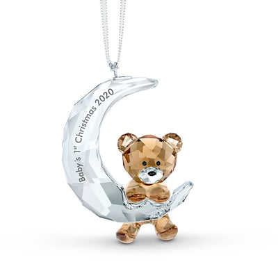 Swarovski Crystal 2020 Baby's 1st Christmas Ornament