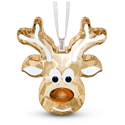 Swarovski Crystal Gingerbread Reindeer Christmas Ornament